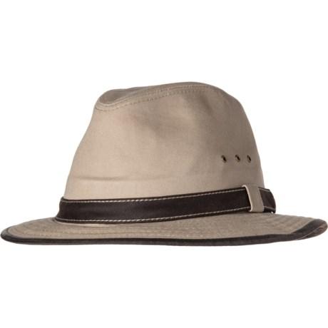 80f8ef2815cb7 Dorfman Pacific Contrast Trim Safari Hat - UPF 50+ (For Men) in Khaki