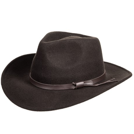 Dorfman Pacific Crushable Outback Felt Hat (For Men) in Chocolate 927ae21e2e0