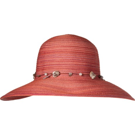 ff319e504b59e Dorfman Pacific Face Saver Hat with Bead Trim - UPF 50 (For Women) in