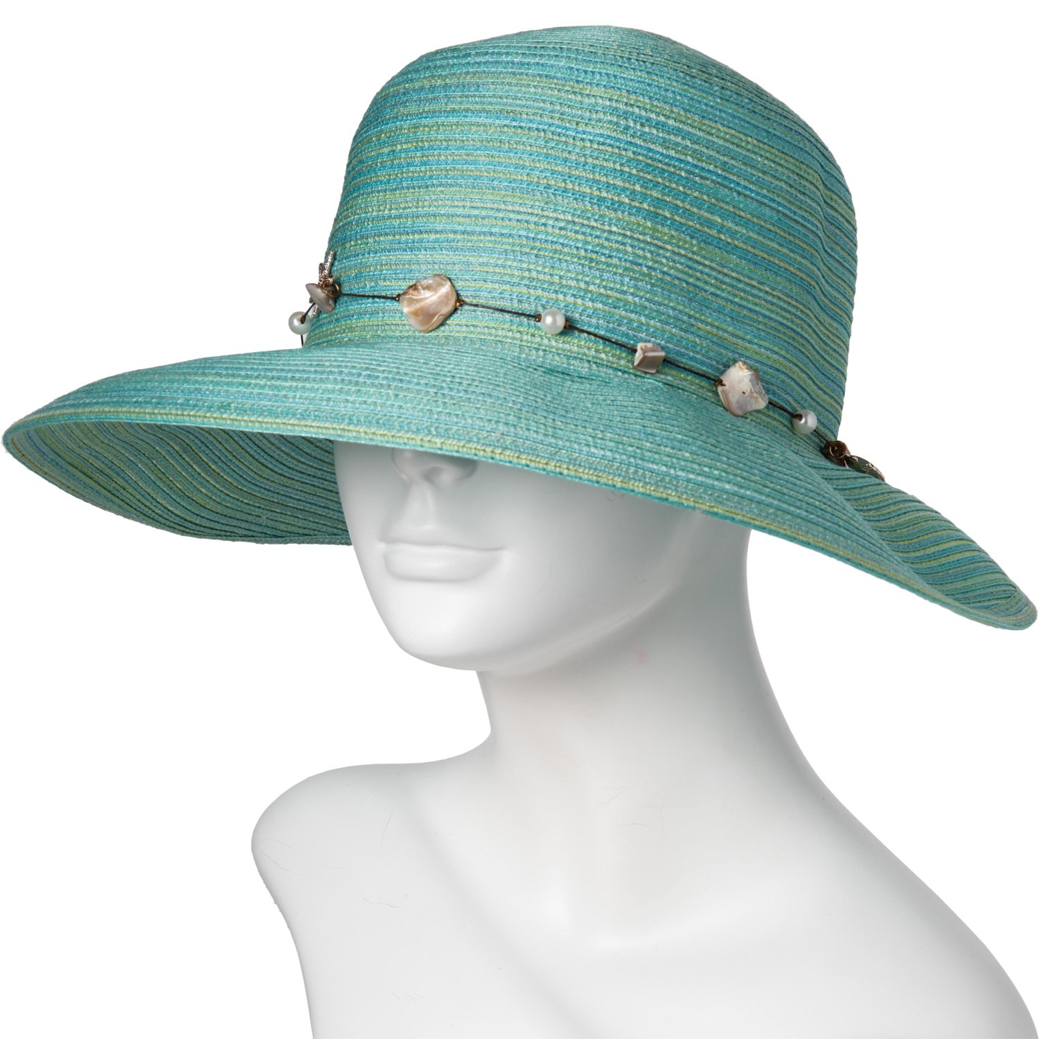 2ca5cb76742 Dorfman Pacific Face Saver Hat with Bead Trim (For Women) - Save 62%