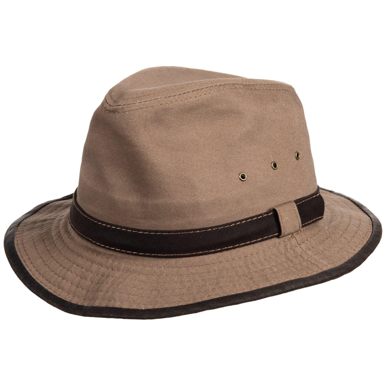 Dorfman Pacific Garment Washed Twill Safari Hat - UPF 50+ (For Men) in ... 89d8a45e8e0