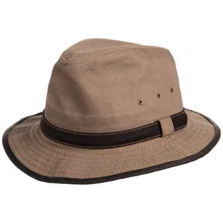 Dorfman Pacific Garment Washed Twill Safari Hat - UPF 50+ (For Men) in Bark - Closeouts
