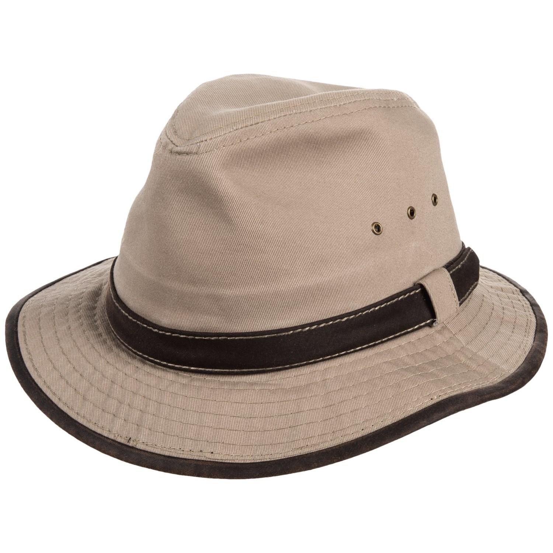 d43221ee715 Dorfman Pacific Garment-Washed Twill Safari Hat - UPF 50+ (For Men) ...