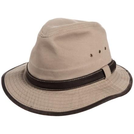 24616036037 Dorfman Pacific Garment-Washed Twill Safari Hat - UPF 50+ (For Men)