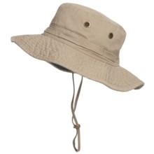Dorfman Pacific Headwear Classic Boonie Hat - UPF 50+ (For Men and Women) in Khaki - Closeouts