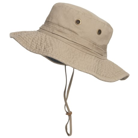 Dorfman Pacific Headwear Classic Boonie Hat - UPF 50+ (For Men and Women) in Khaki