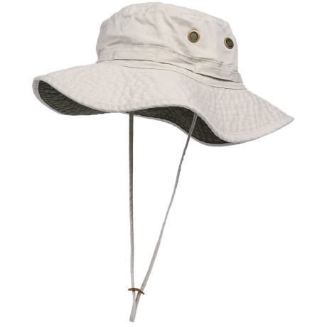 Dorfman Pacific Headwear Classic Boonie Hat - UPF 50+ (For Men and Women) in Putty