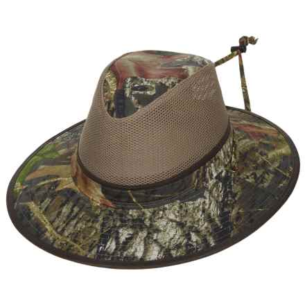 Dorfman Pacific Headwear Dorfman Pacific Camo Mesh Crown Safari Hat - UPF 50+ (For Men) in Mossy Oak - Closeouts