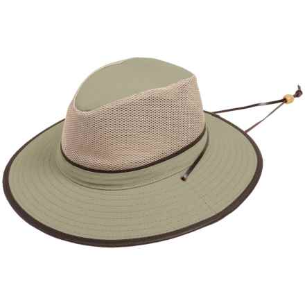 Dorfman Pacific Headwear Dorfman Pacific Safari Hat - UPF 50+, Mesh Crown (For Men and Women) in Khaki - Closeouts