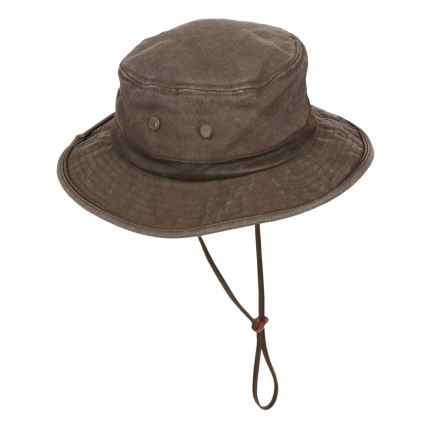 Dorfman Pacific Headwear Magellan Washed Canvas Boonie Hat - UPF 50 (For Men) in Brown - Closeouts