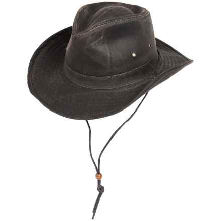 Dorfman Pacific Headwear Outback Hat - UPF 50+, Weathered Cotton (For Men) in Brown - Closeouts