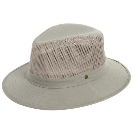 Dorfman Pacific Headwear Safari Hat - Mesh Crown (For Men)