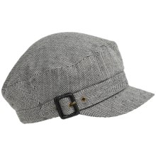 Dorfman Pacific Herringbone Cadet Cap (For Women) in Charcoal - Closeouts