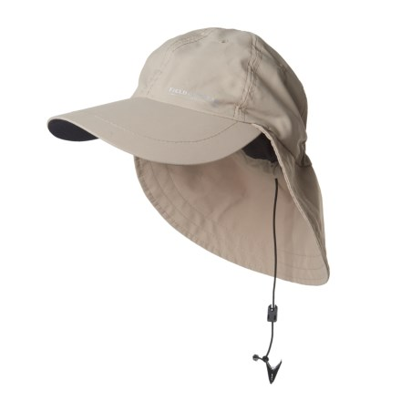 663f51d1 Dorfman Pacific Long Bill Fishing Hat with Neck Flap - UPF 50+ (For Men