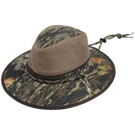 Dorfman Pacific Mossy Oak® Safari Hat - UPF 50+, Mesh Crown (For Men and Women) in Mossy Oak Break-Up - Closeouts
