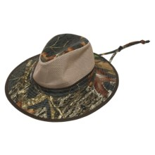 Dorfman Pacific Mossy Oak® Safari Hat - UPF 50+, Mesh Crown (For Men and Women) in New Breakup - Closeouts