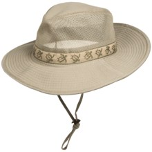 Dorfman Pacific Outback Hat -UPF 50+ (For Men and Women) in Khaki - Closeouts