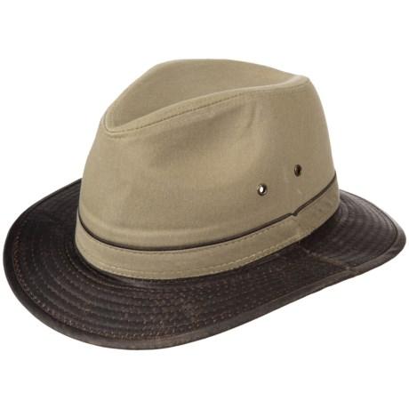 Dorfman Pacific Oxford Twill Safari Hat (For Men) in Khaki