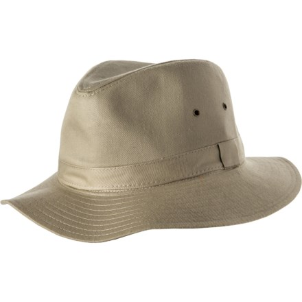 099330ddf65e8 Dorfman Pacific Packable Cloth Safari Hat - UPF 50+ (For Men) in Khaki