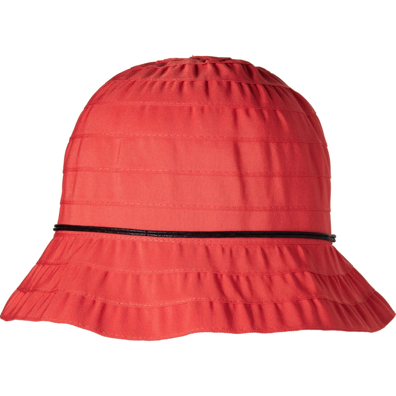 73474e139d64a9 Dorfman Pacific Packable Ribbon Bucket Hat (For Women) in Red ...