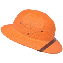 Dorfman Pacific Pith Helmet Hat - Toyo Straw (For Men and Women) in Orange - 2nds