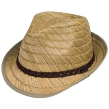 Dorfman Pacific Rush Straw Fedora (For Men) in Natural - Closeouts