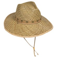 Dorfman Pacific Rush Straw Lifeguard Hat (For Men and Women) in Natural - Closeouts