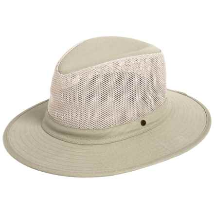 Dorfman Pacific Safari Hat - Mesh Crown (For Men) in Khaki - Closeouts