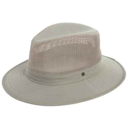Dorfman Pacific Safari Hat - Mesh Crown (For Men) in Olive - Closeouts