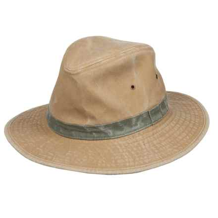 Dorfman Pacific Safari Hat - UPF 50+ (For Men) in Khaki - Closeouts
