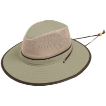 Dorfman Pacific Safari Hat - UPF 50+, Mesh Crown (For Men and Women) in Khaki - Closeouts