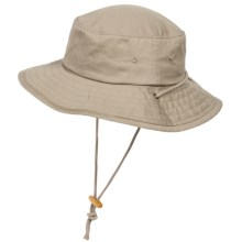 Dorfman Pacific Twill Boonie Hat with Chin Cord (For Men) in Khaki - Closeouts