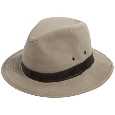 Dorfman Pacific Twill Safari Hat - UPF 50+ (For Men) in Khaki - Closeouts