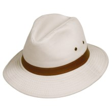 Dorfman Pacific Washed Twill Safari Hat - UPF 50+ (For Men and Women) in Putty - Closeouts