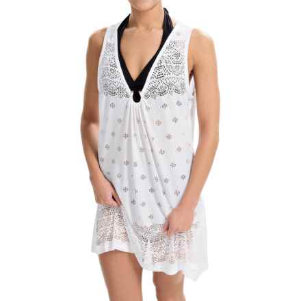 Dotti Laser-Cut U-Ring Cover-Up Dress - Sleeveless (For Women) in White - Closeouts