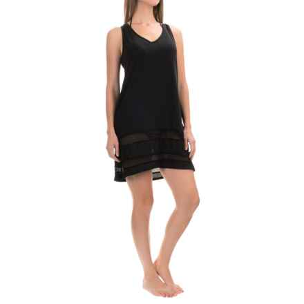 Dotti Mesh Trim Cover-Up - Sleeveless (For Women) in Black - Closeouts