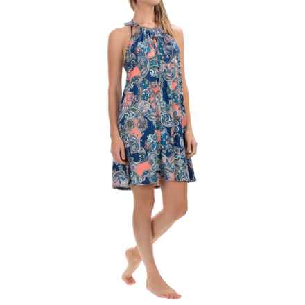 Dotti Paisley Palace Swimsuit Cover-Up Dress - Sleeveless (For Women) in Multi - Closeouts