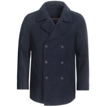 Double-Breasted Pea Coat - Wool Blend, Insulated (For Men) in Navy - Closeouts