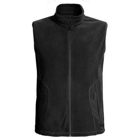 Double Diamond Sportswear Barton Fleece Vest (For Men) in Black