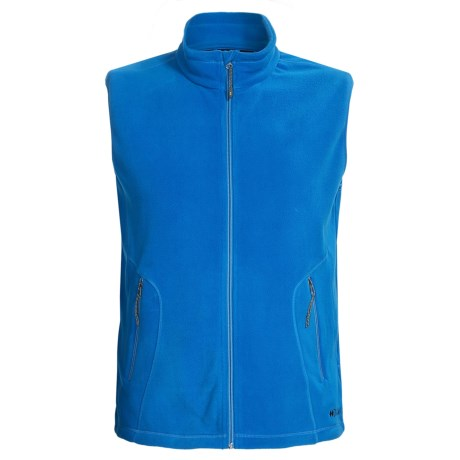 Double Diamond Sportswear Barton Fleece Vest (For Men) in Clear Blue