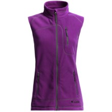 Double Diamond Sportswear Bristol Fleece Vest (For Women) in Magenta/Chrome - Closeouts