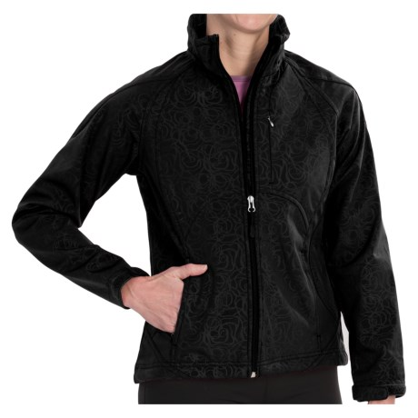 Double Diamond Sportswear Craftsbury Soft Shell Jacket (For Women) in Blossom Embossed