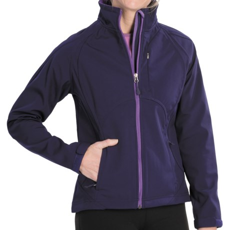 Double Diamond Sportswear Craftsbury Soft Shell Jacket (For Women) in Ripe Plum