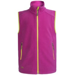 Double Diamond Sportswear Danby Fleece Vest (For Kids) in Ripe Plum
