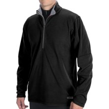 Double Diamond Sportswear Microfleece Shirt - Zip Neck, Long Sleeve (For Men) in Black/Chrome - Closeouts