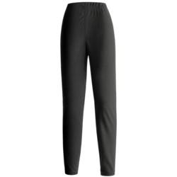 Double Diamond Sportswear Microfleece Tights (For Women) in Black