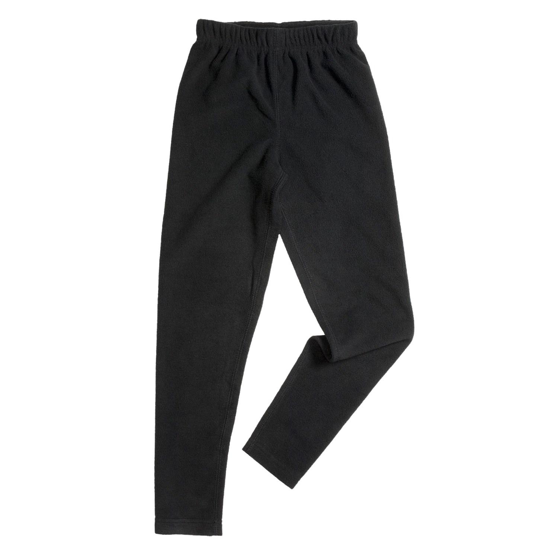 Double Diamond Sportswear Tights - Microfleece (For Kids) in Black
