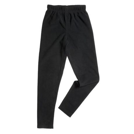 Double Diamond Sportswear Tights - Microfleece (For Little and Big Kids) in Black