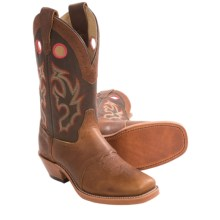 Double H Bison Buckaroo Cowboy Boots - Wide Square Toe (For Men) in Peanut - Closeouts