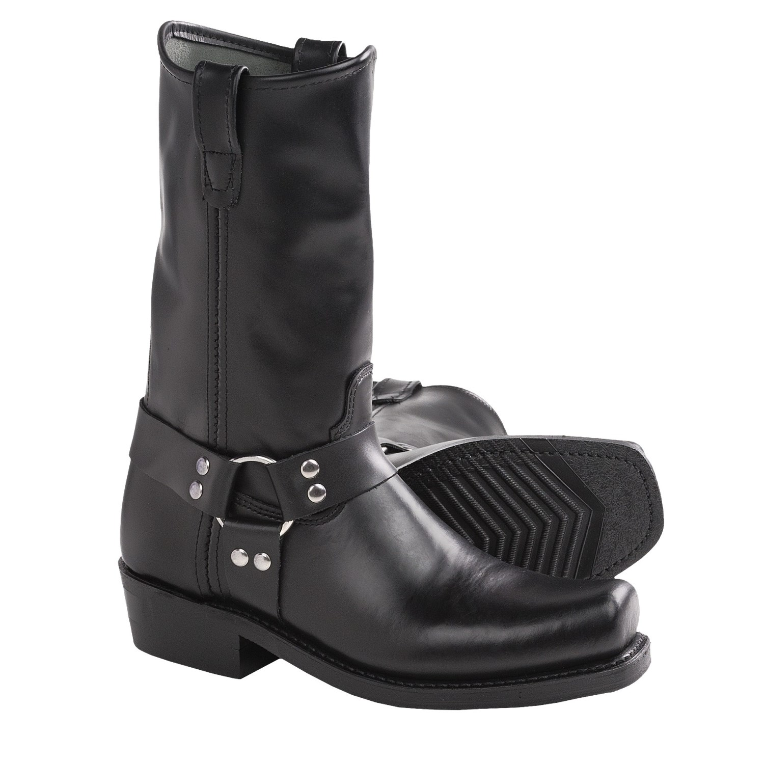 Leather Harness Boots Double H